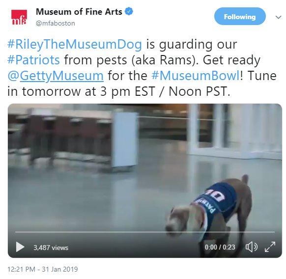 MFA Boston twitter account Museum Bowl 2019