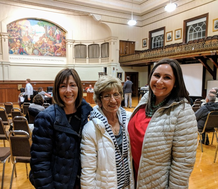 Nancy Clooney daughter Grace, Nancy Clooney Morning Glory_Danielle Berdahn Yella_ together at City Hall formalize transition _20190214_Gloucester Ma © catherine ryan