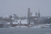 Snowy Day City Hall Gloucester Massachusetts February copyright Kim Smith - 03