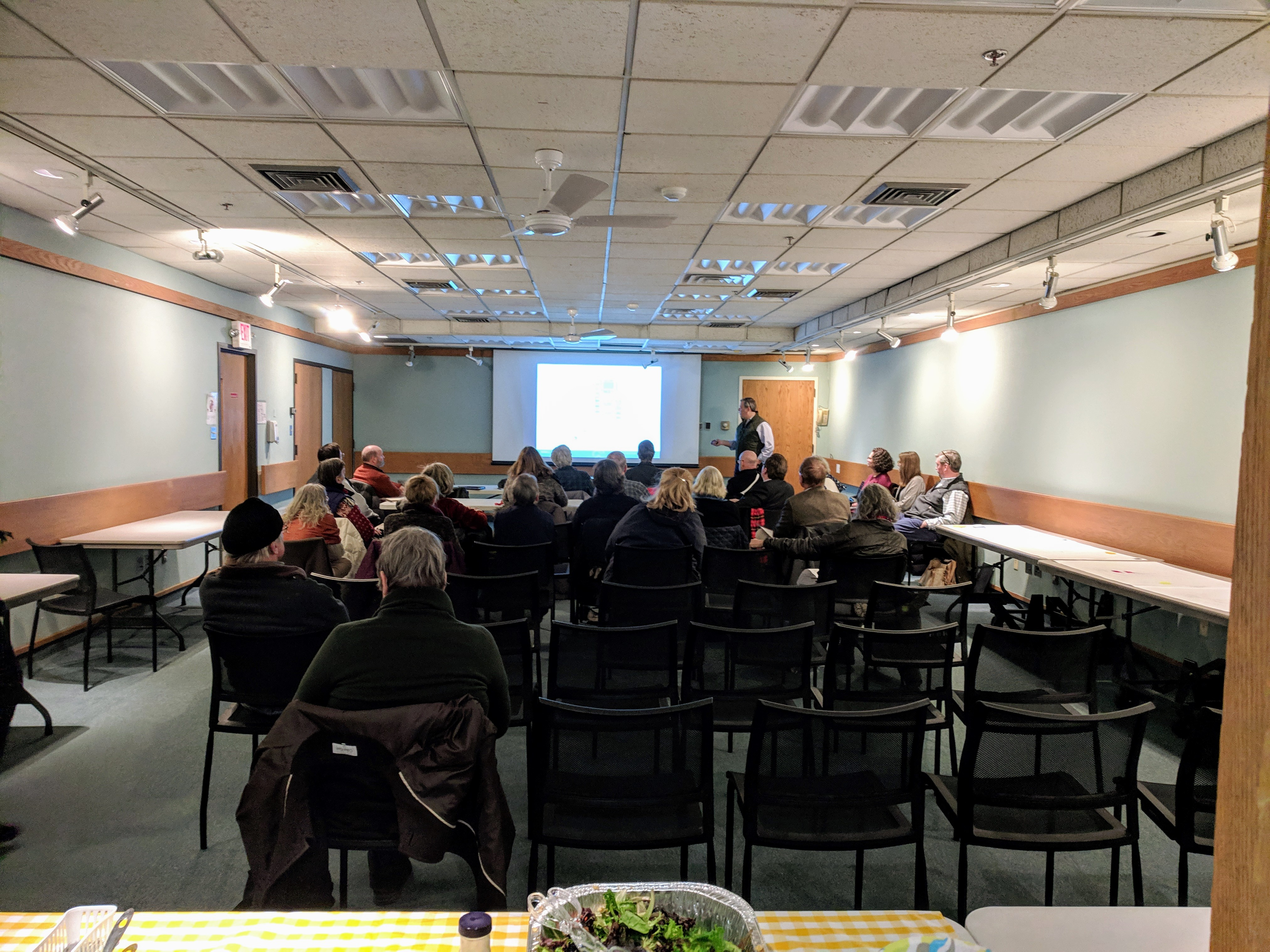 sparsely attended presentation mostly architectural firm_ library trustee_ new building and saunders committee members_20190130©catherine ryan