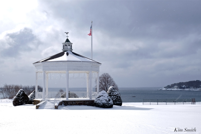 Stage Fort Park Bandstand Winter Snow copyright Kim Smith