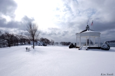 Stage Fort Park Winter Snow Bandstand copyright Kim Smith