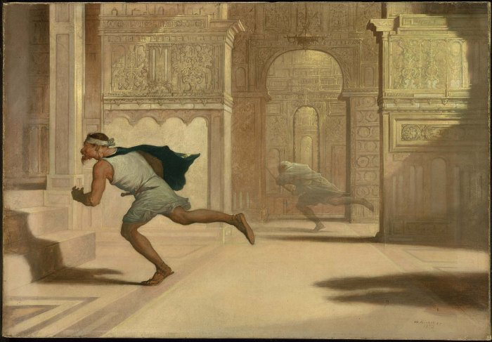 WILLIAM RIMMER_Flight and Pursuit_ 1872 oil on canvas colllection of Museum of Fine Arts Boton