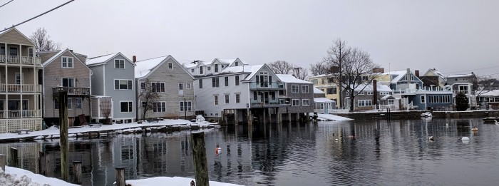 Winter Rockport Massachusetts Harbor just before morning high tide after big full moon_20190221_© cryan (3)