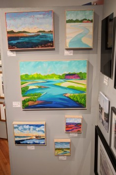 artist Ken Chrzanowski booth_Cape Ann Through Artists' Eyes 2019 Manchester Historical Museum group show_20190306_©catherine ryan
