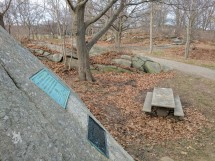 DAR plaques marvelous glacial outcroppings Stage Fort Park
