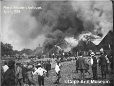 FIRE AT WEBSTER'S ICE HOUSE JULY 4 1898_© photo collection cape ann museum (courtesy photo from Scott Memhard Cape Pond Ice Gloucester Mass)