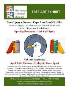 from Manchester Historical Museum 2019 Cape Ann Reads exhibit poster