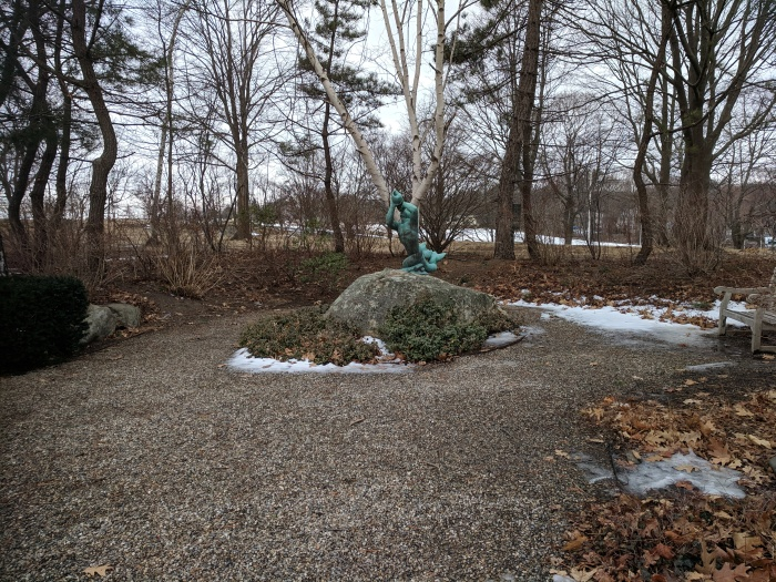 Gloucester MA Department of Public Works directing restoration special gardens Stacy Boulevard _20190215_ sculpture Walker Hancock © catherine ryan (4)