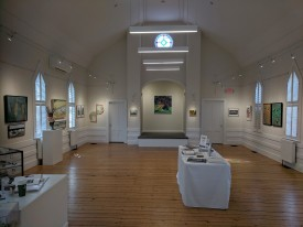 installation view Rocky Neck Cultural Center group show 'Rocky Neck Now 2019 Looking All Around'_Gloucester Mass_20190324_© catherine ryan (2)