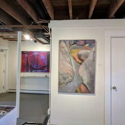installation view Rocky Neck Cultural Center group show 'Rocky Neck Now 2019 Looking All Around'_Gloucester Mass_20190324_© catherine ryan (7)