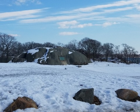 snow on tablet rock stage fort park gloucester ma