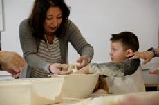 St. Joseph Pasa Making w Kids Groppos copyright Kim Smith - 27
