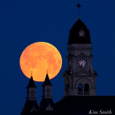 Super Moon Full Worm Moon Gloucester City Hall -1 copyright Kim Smith