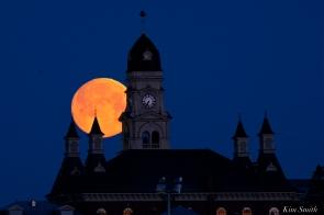 Super Moon Full Worm Moon Gloucester City Hall -3 copyright Kim Smith