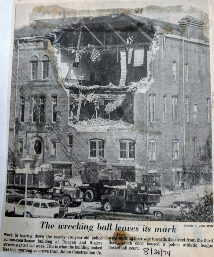 August 20 1974 wrecking ball to police station