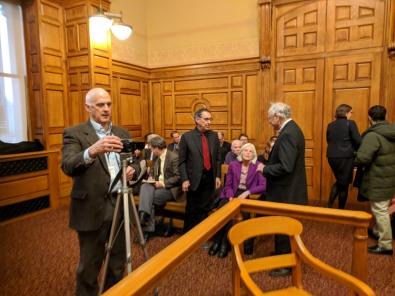 BERKSHIRE EAGLE LARRY PARNASS Boston MA John Adams Courthouse -Berkshire Museum deaccession case oral arguments before SJO Justice Judge Lowy_Mar 20 2018 _102144 © catherine ryan (14)