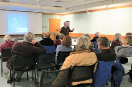 CHRIS LEAHY 2019 talk_11 April 2019_at Sawyer Free Library Gloucester MA _Essex county islands and birds_photo copyright Linda Bosselman (