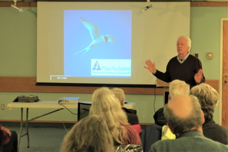 CHRIS LEAHY 2019 talk_11 April 2019_at Sawyer Free Library Gloucester MA _Essex county islands and birds_photo copyright Linda Bosselman ( (7)