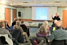 CHRIS LEAHY 2019 talk_11 April 2019_at Sawyer Free Library Gloucester MA _Essex county islands and birds_photo copyright Linda Bosselman ( (8)