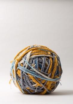 Gail Barker . 'The Shipping Forecast' 2019 . Wool yarn . 15-inch diameter . IMG_1183
