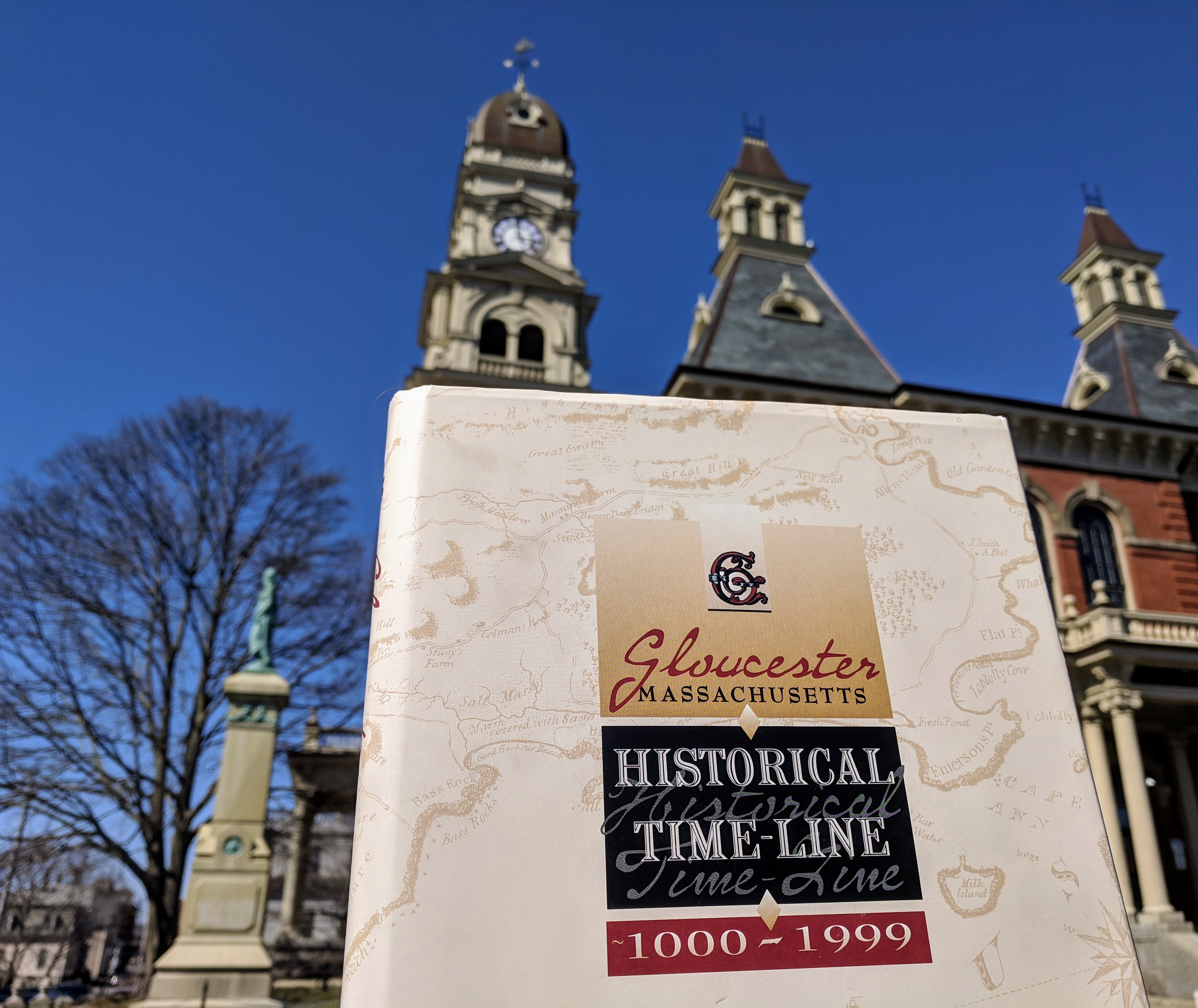 Gloucester Massachusetts archives timeline book_20190411_city hall_© Ray ed Sarah Dunlop © photo catherine ryan