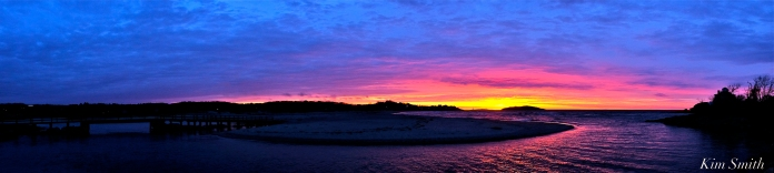 Good Harbor Beach sunrise panorama 4-26-19 copyright Kim Smith