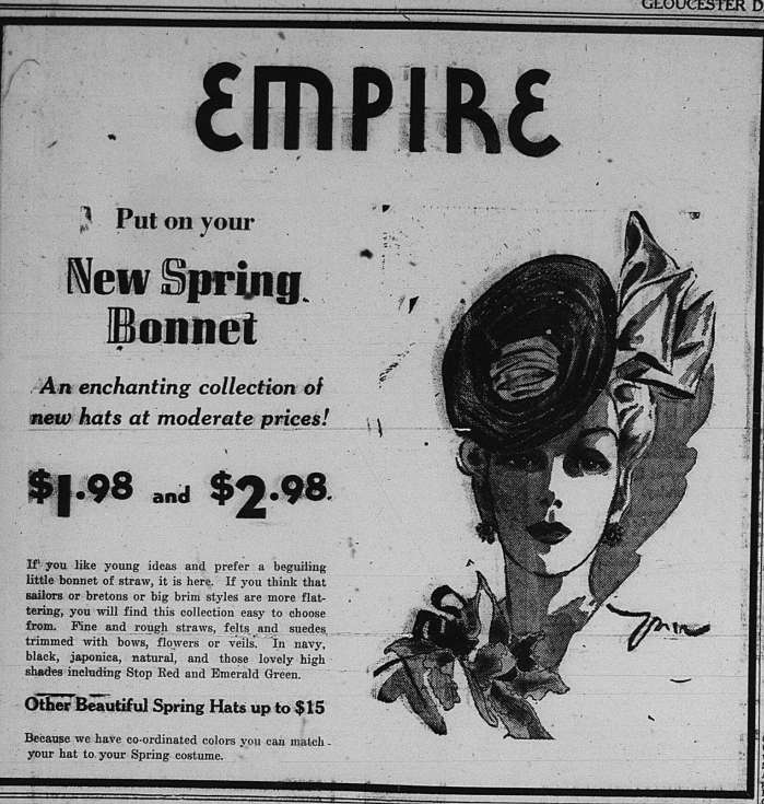 New Spring Bonnet GDT Mar 24 1939