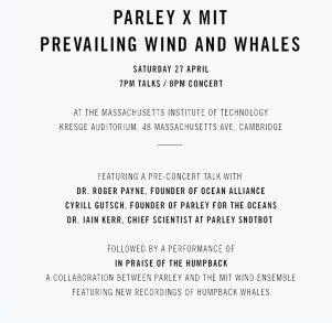Ocean Alliance at MIT Wind Ensemble anniversary concert