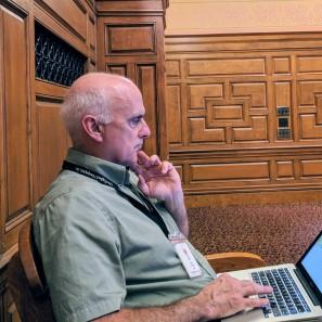 portrait LARRY PARNASS_Berkshire Eagle reporter_features_ Boston MA John Adams Courthouse_Berkshire Museum deaccession case Appeals Court _ 2018 Sept 4 _ 1© catherine ryan