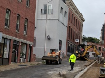 view from Roger back to City Hall_Duncan Street construction Gloucester MA DPW_20180912_ © c ryan