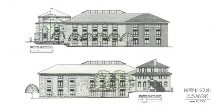 2005 architectural plans show extending Monell architecture to the back