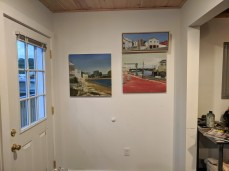 artist JASON BURROUGHS_invited Goetemann Artist Residency May 2019_Rocky Neck Art Colony_work within the last year on one wall_new work in front_Gloucester MA_20190527_© c ryan (15)