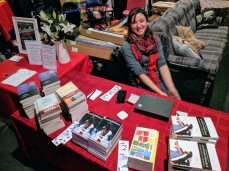 Charlie brought The Book Store of Gloucester pop up sales for Literary Cape Ann event_ Bestsellers to Hollywood _from books to screen_at Cape Ann Community Cinema_20190505_© catherine ryan