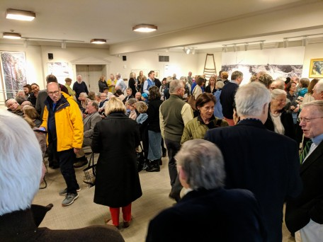 crowd filling in_20190504_ Cape Ann Museum public send off Ronda Faloon