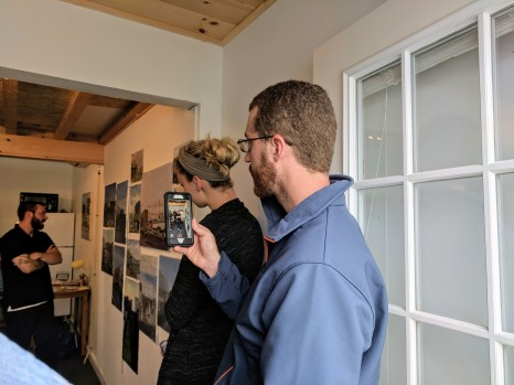 DAVID BROOKS Cape Ann Art Haven founder in part where Jason got his start_ proudly filming JASON BURROUGHS_closing talk_Goetemann Artist Residency_Rocky Neck_Gloucester MA_20190530_© c ryan (6)