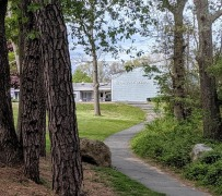 DON MONELL ARCHITECT_ Plum Cove school and grounds_built in 1966_ Gloucester MA_ lovely gentle winding path approach through nature_20190523_©c ryan