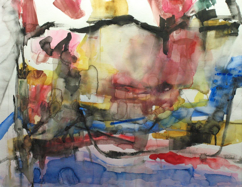 Erma Wheeler . Quarried Waters 1997  .  watercolor on paper  .  22x28 inches . 30x36 inches framed.png