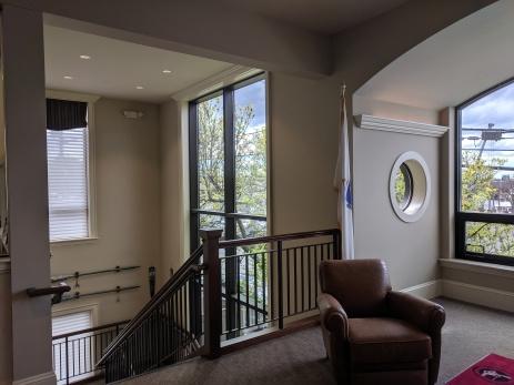 interior Cape Ann Savings Bank_ Monell stairwell gone_© c ryan