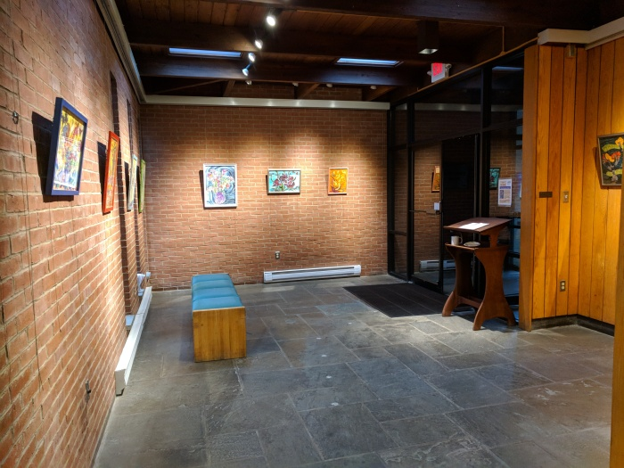 Mary McCarl_Matz Gallery_20190109_ gallery at entrance to Sawyer Free Library ©c ryan