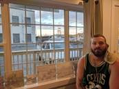 older drawings on window sill__artist JASON BURROUGHS_invited Goetemann Artist Residency May 2019_Rocky Neck Art Colony_new plein air_Gloucester MA_20190527_© c ryan (10)