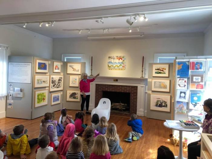 photo courtesy Beth Welin_Once Upon a Contest Cape Ann Reads Carol Bender with Leslie Galacar at Manchester Historical Museum