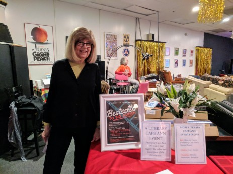 portrait of Rae Francoeur_ co founder Literary Cape Ann_event_ Bestsellers to Hollywood _from books to screen_at Cape Ann Community Cinema_20190505_© catherine ryan