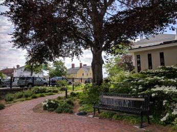 Rando Memorial garden blooming_20180530_downtown Gloucester Mass green spaces ©catherine ryan