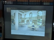 READING ROOM main floor roughly where it is now_architect presentation_SFL Annual meeting installation views_Gloucester MA_20190520 ©c ryan