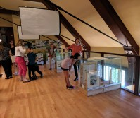 Reception at TOHP Burnham Library Essex Mass._ Once Upon a Contest Selections from Cape Ann Reads exhibition _20190518_about 50 guests all ages dropped in © c ryan (17)
