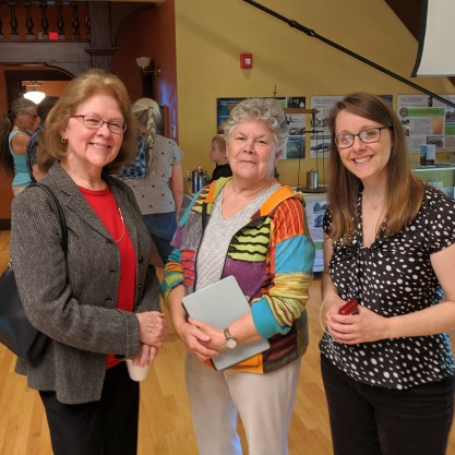 Reception at TOHP Burnham Library Essex Mass._ Once Upon a Contest Selections from Cape Ann Reads exhibition _20190518_about 50 guests all ages dropped in © c ryan (25)