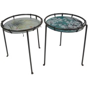 Swift & Monell Small tables with artistic enameling