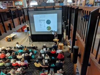 Trustee treasurer report YR 2017 to YR 2018_SFL Annual meeting installation views_architect presentation_Gloucester MA_20190520©c ryan