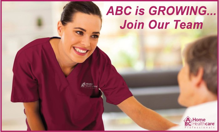 ABC is GROWING...Join Our Team of Caregivers